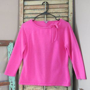 Ann Taylor Pink Cashmere Sweater